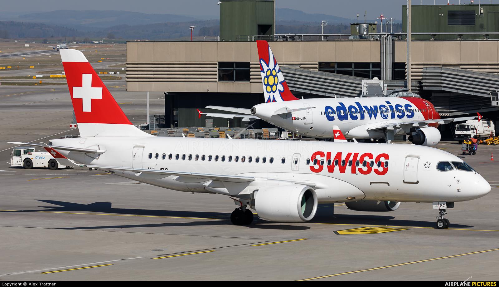Swiss HB-JBC aircraft at Zurich