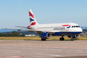 G-EUPU - British Airways Airbus A319 aircraft