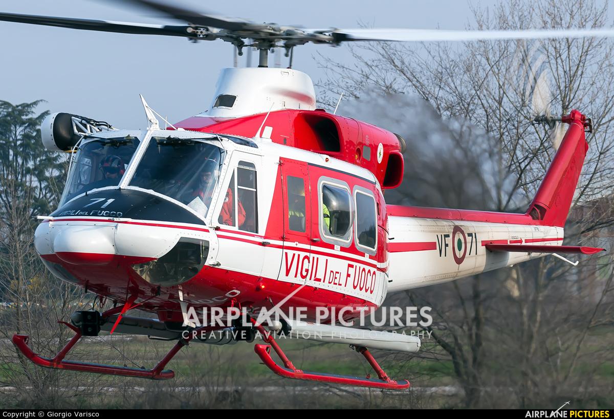 Italy - Vigili del Fuoco I-VFPA aircraft at Verona - Boscomantico