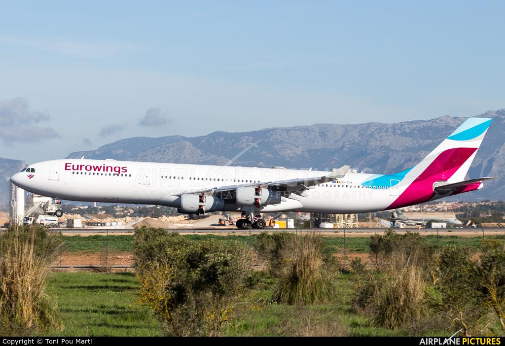 Eurowings OO-SCW aircraft at Palma de Mallorca