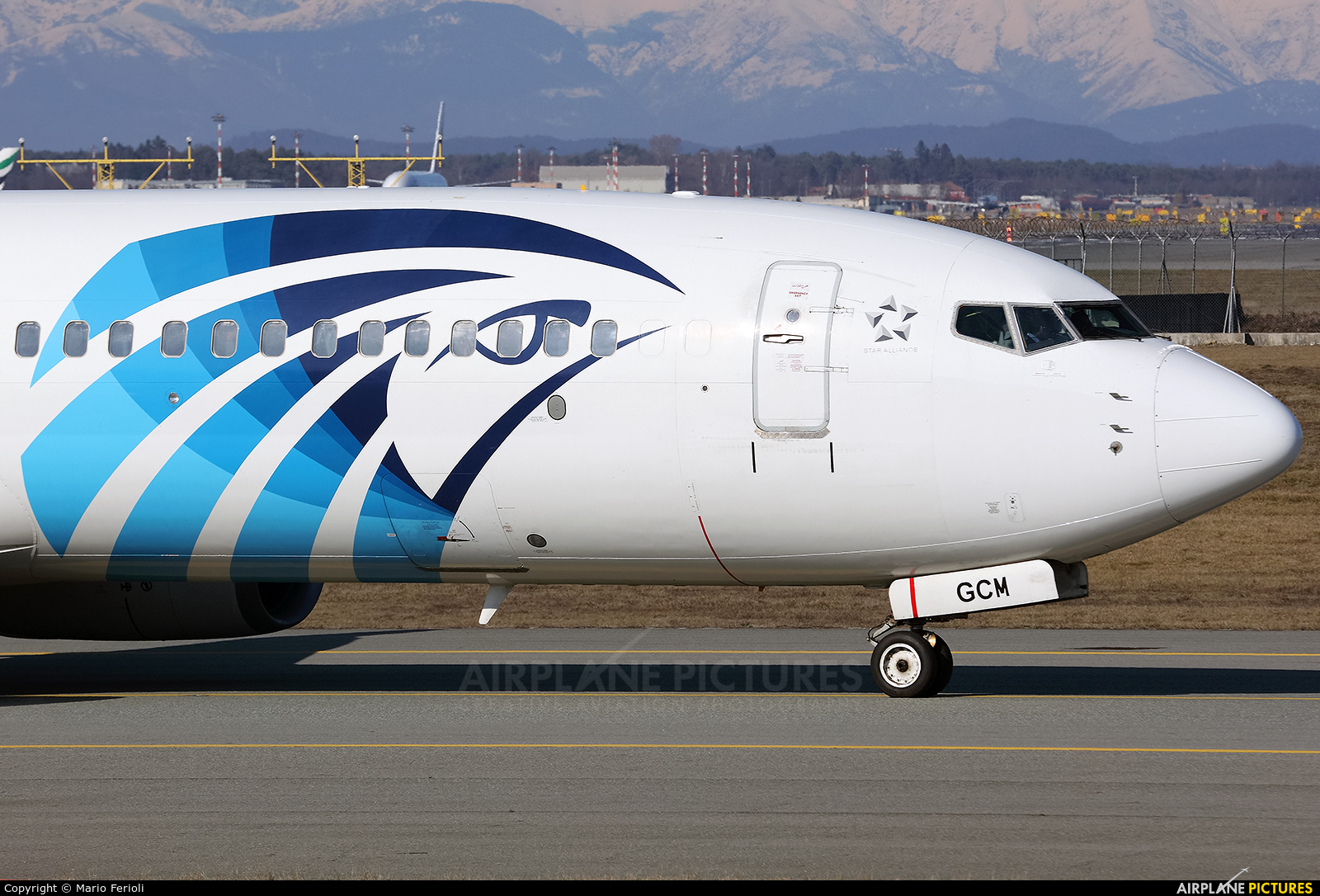 Egyptair SU-GCM aircraft at Milan - Malpensa