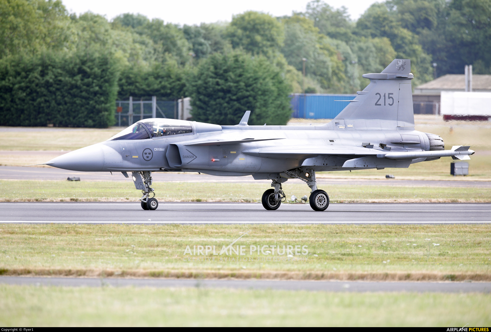Sweden - Air Force 215 aircraft at Fairford