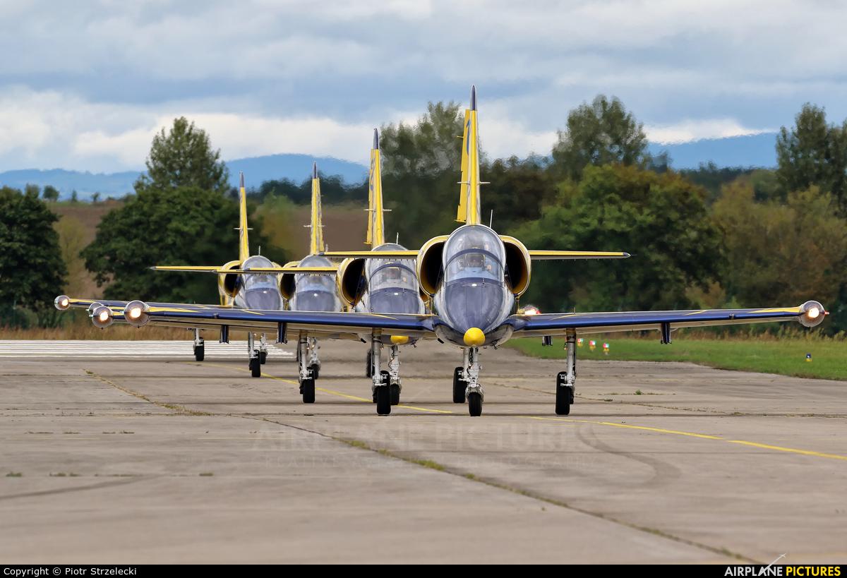 Baltic Bees Jet Team YL-KSM aircraft at Hodkovice