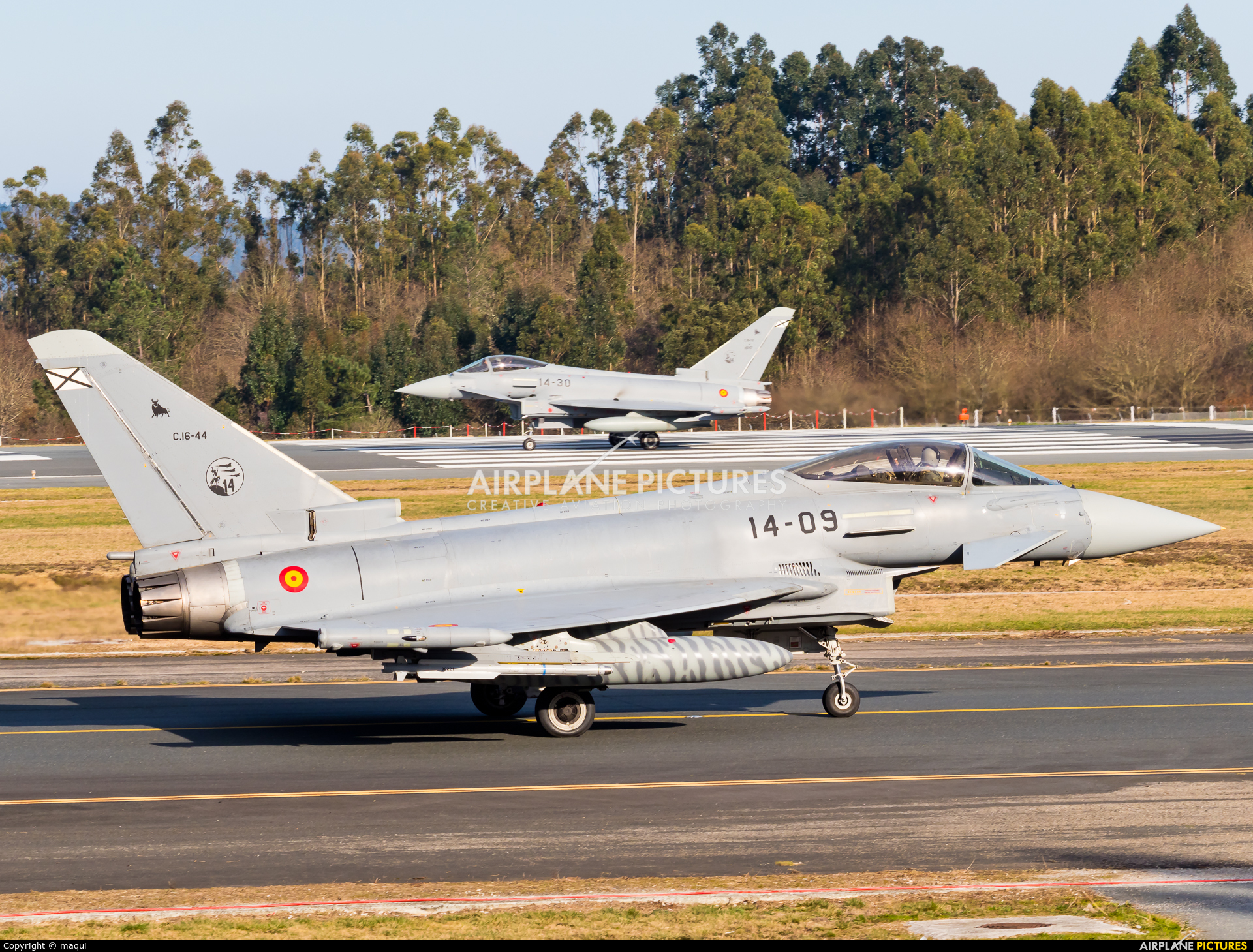 Spain - Air Force C.16-44 aircraft at Santiago de Compostela