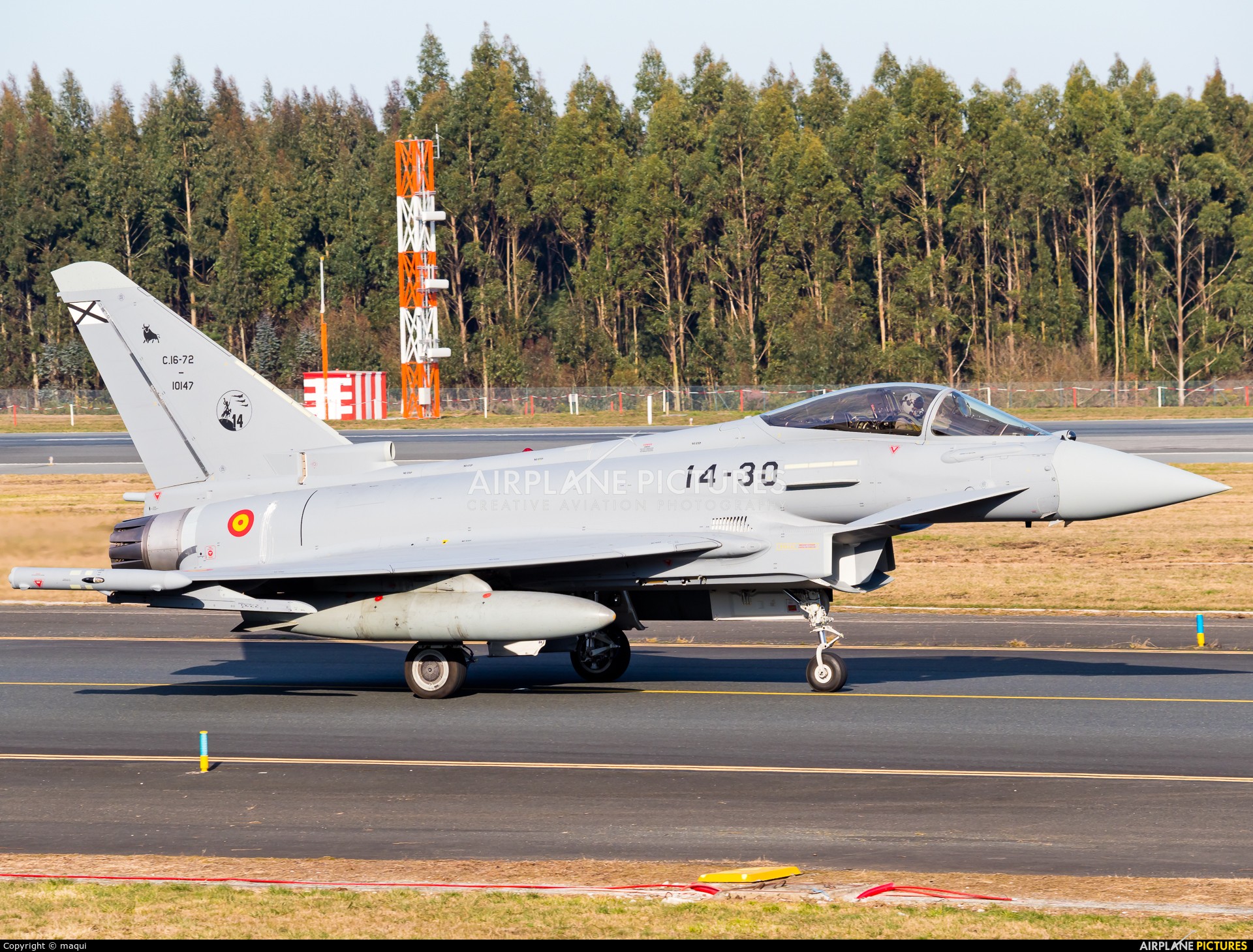 Spain - Air Force C.16-72 aircraft at Santiago de Compostela