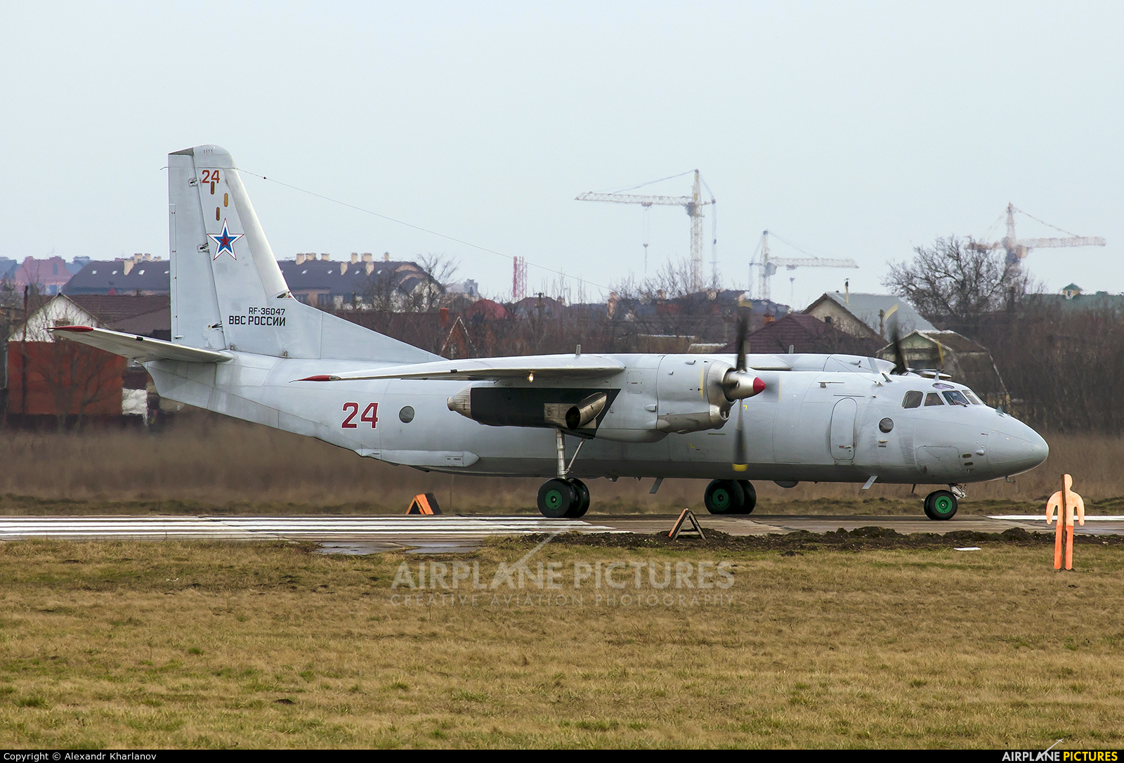 Russia - Air Force 24 aircraft at Krasnodar Tsentralny