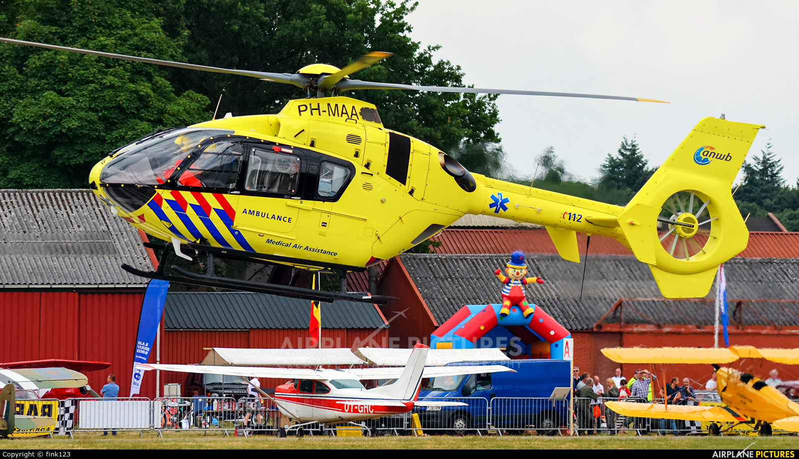 ANWB Medical Air Assistance PH-MAA aircraft at Hoeven - Seppe
