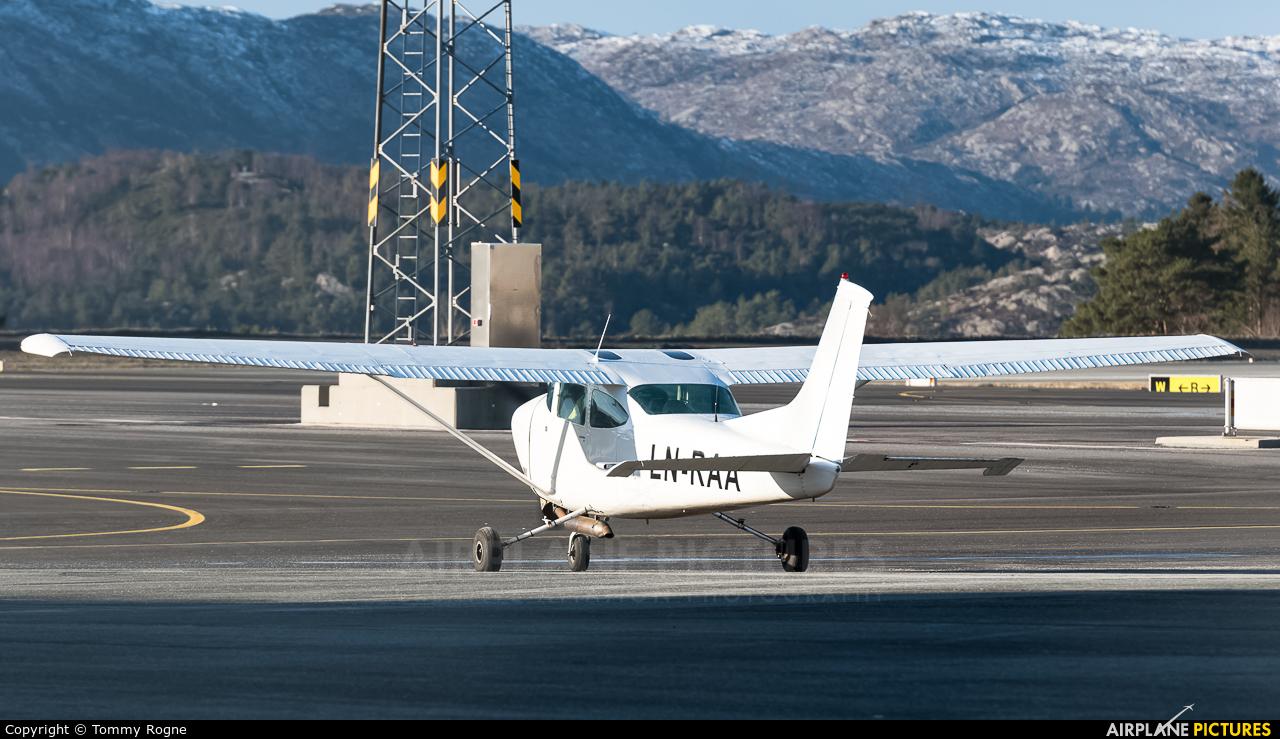 LN-RAA aircraft at Bergen - Flesland