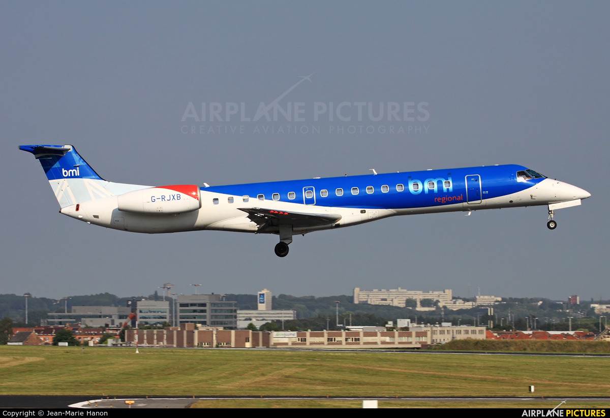 BMI Regional G-RJXB aircraft at Brussels - Zaventem