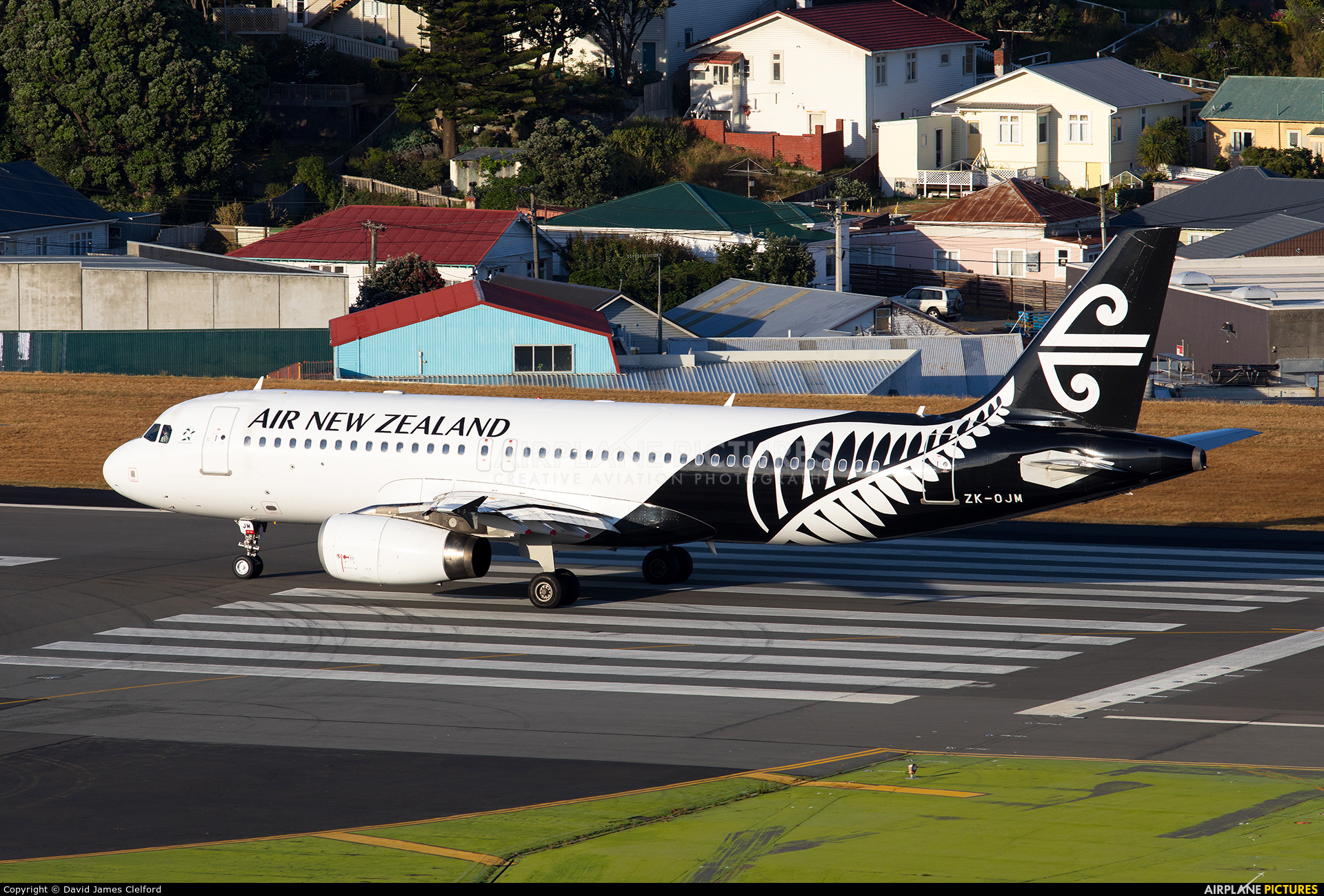 Air New Zealand ZK-OJM aircraft at Wellington Intl