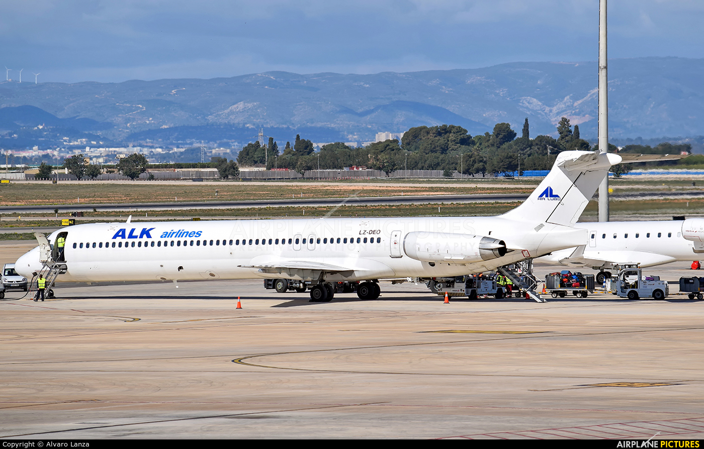 ALK Airlines LZ-DEO aircraft at Valencia
