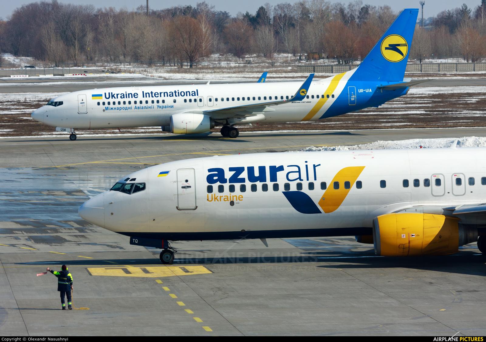 Azur Air Ukraine UR-UTQ aircraft at Kiev - Borispol
