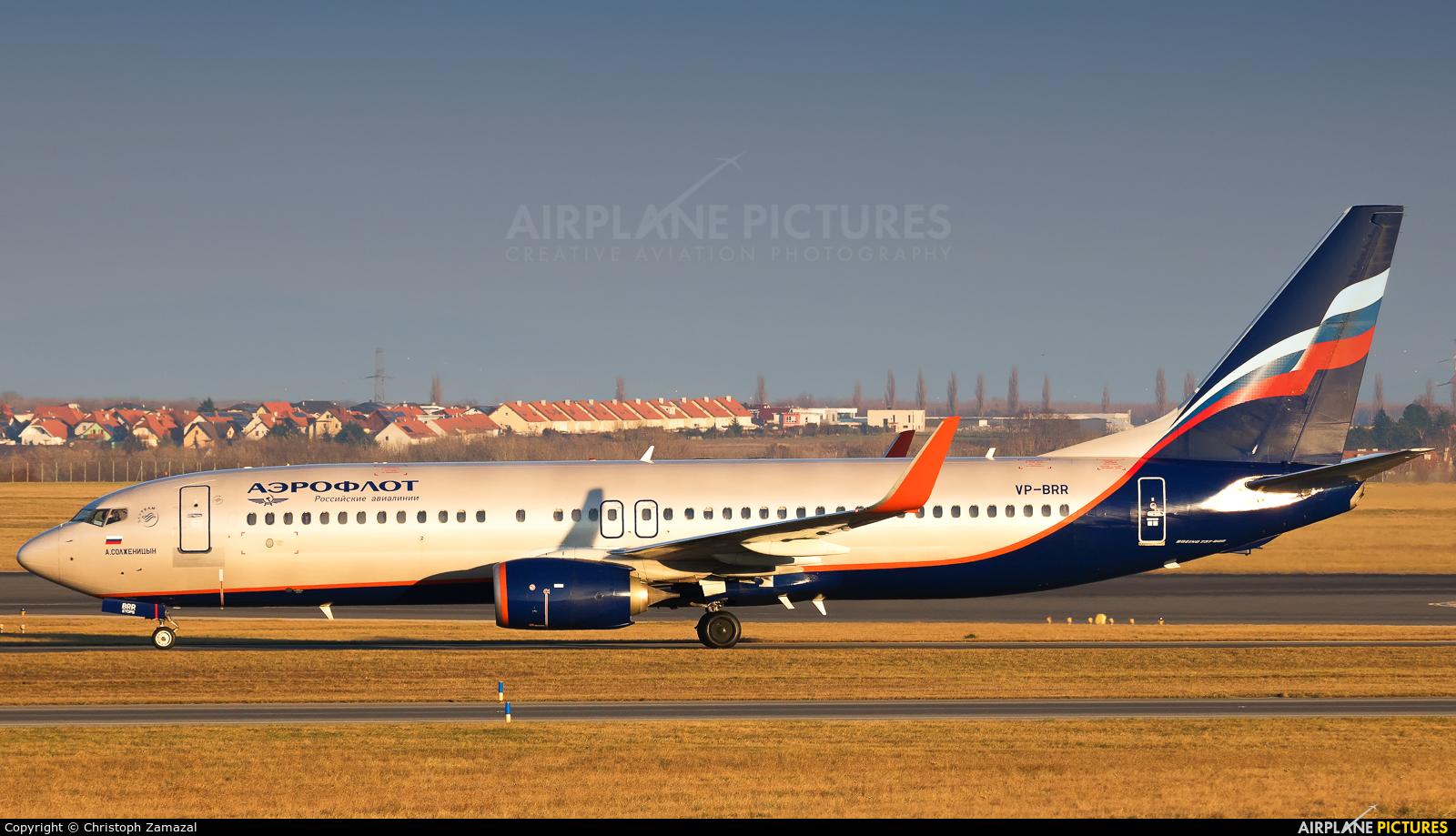 Aeroflot VP-BRR aircraft at Vienna - Schwechat