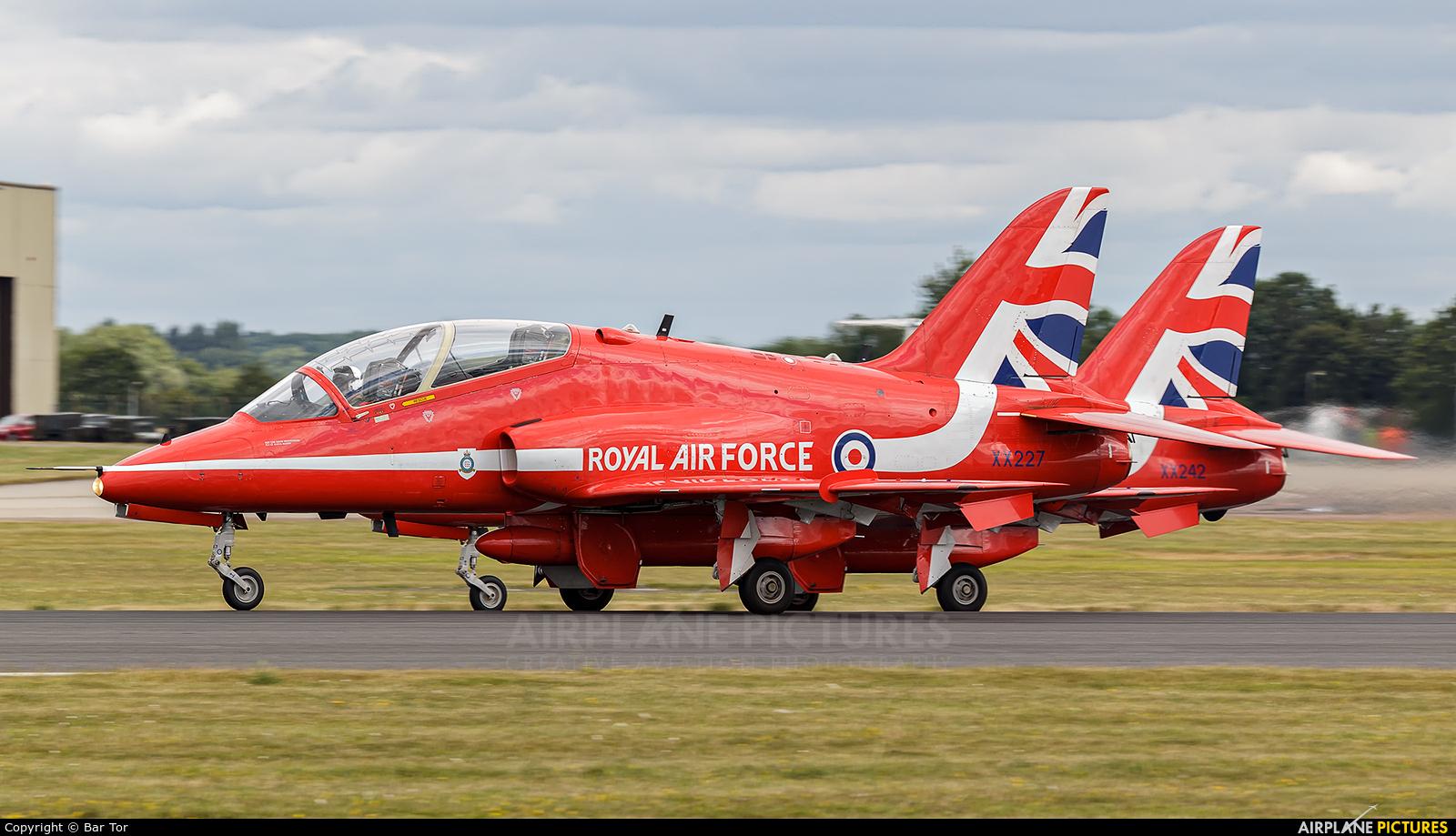 "Royal Air Force ""Red Arrows"" XX227 aircraft at Fairford"