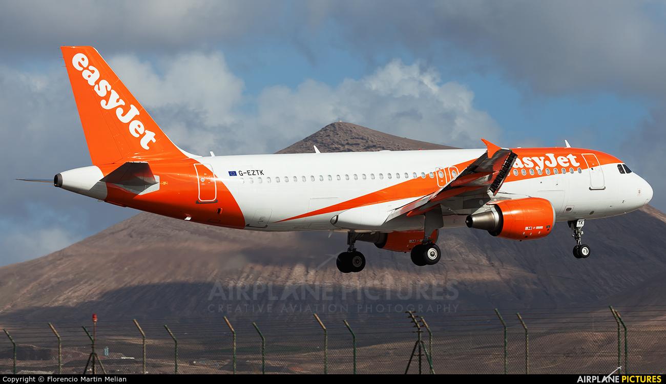 easyJet G-EZTK aircraft at Lanzarote - Arrecife