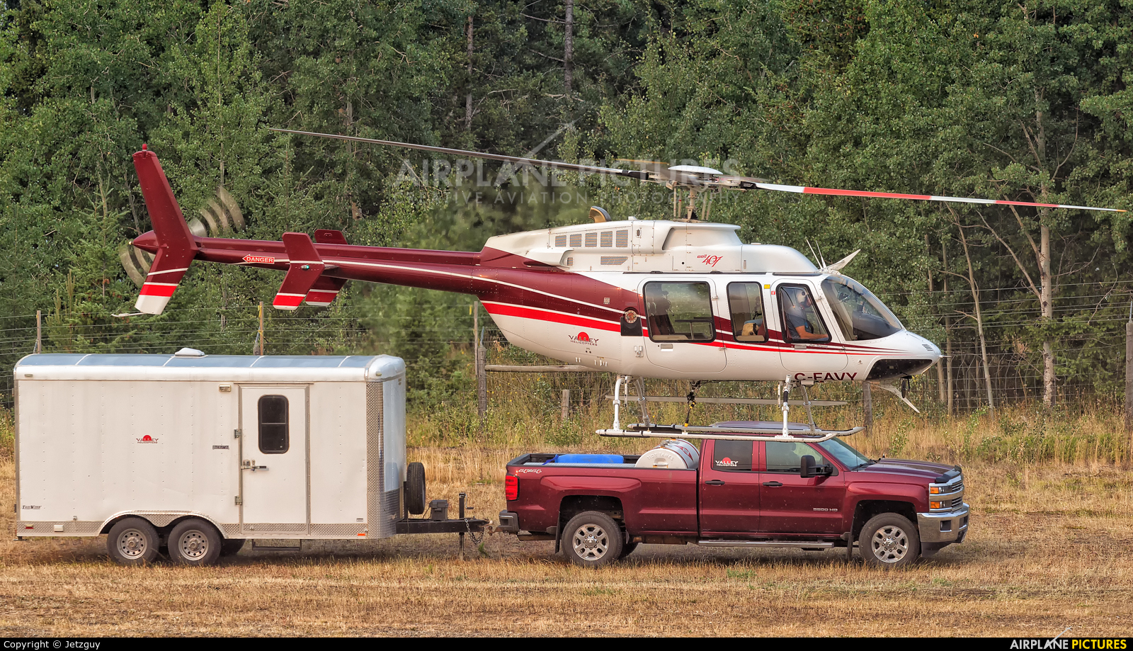 Valley Helicopters C-FAVY aircraft at 108 Mile Ranch, BC