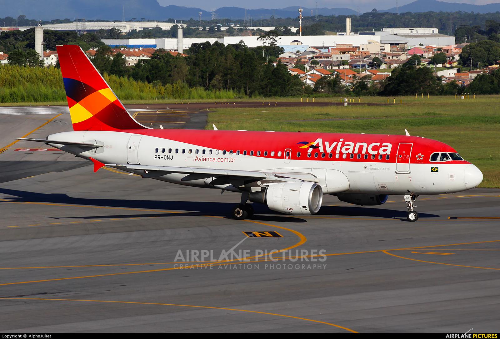 Avianca Brasil PR-ONJ aircraft at Curitiba -  Afonso Pena
