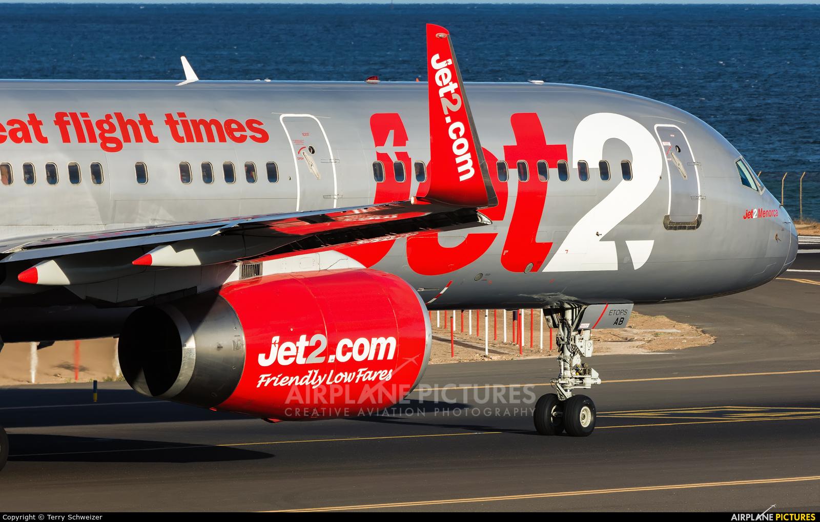 Jet2 G-LSAB aircraft at Lanzarote - Arrecife