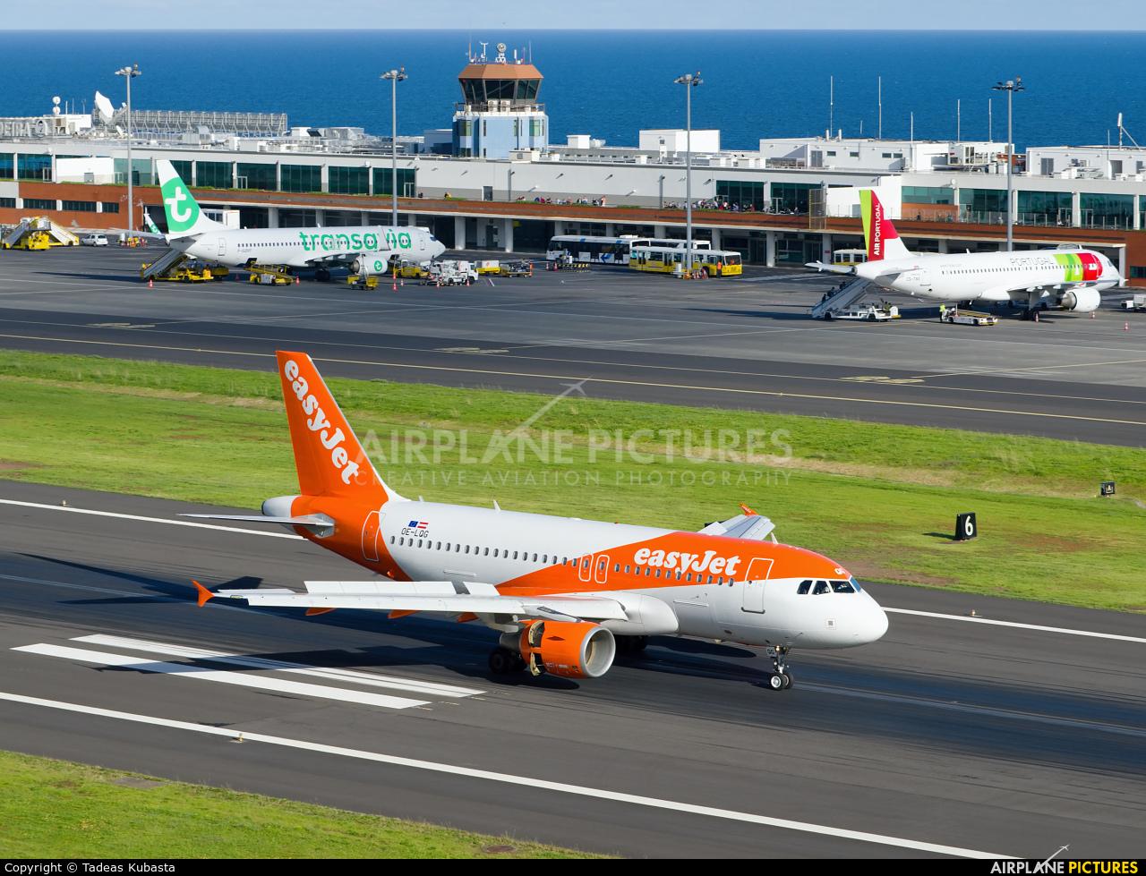easyJet Europe OE-LQG aircraft at Madeira