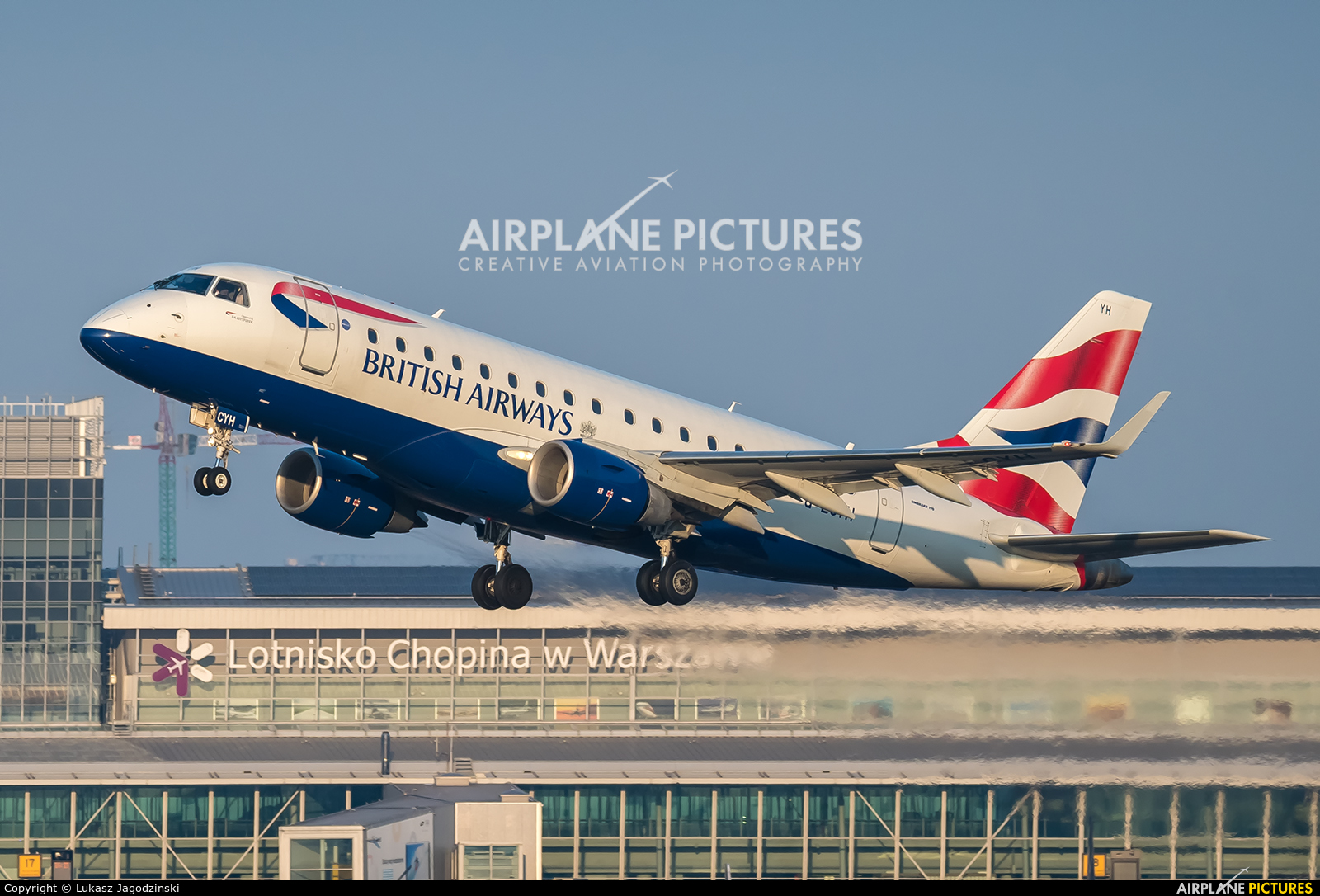 British Airways - City Flyer G-LCYH aircraft at Warsaw - Frederic Chopin