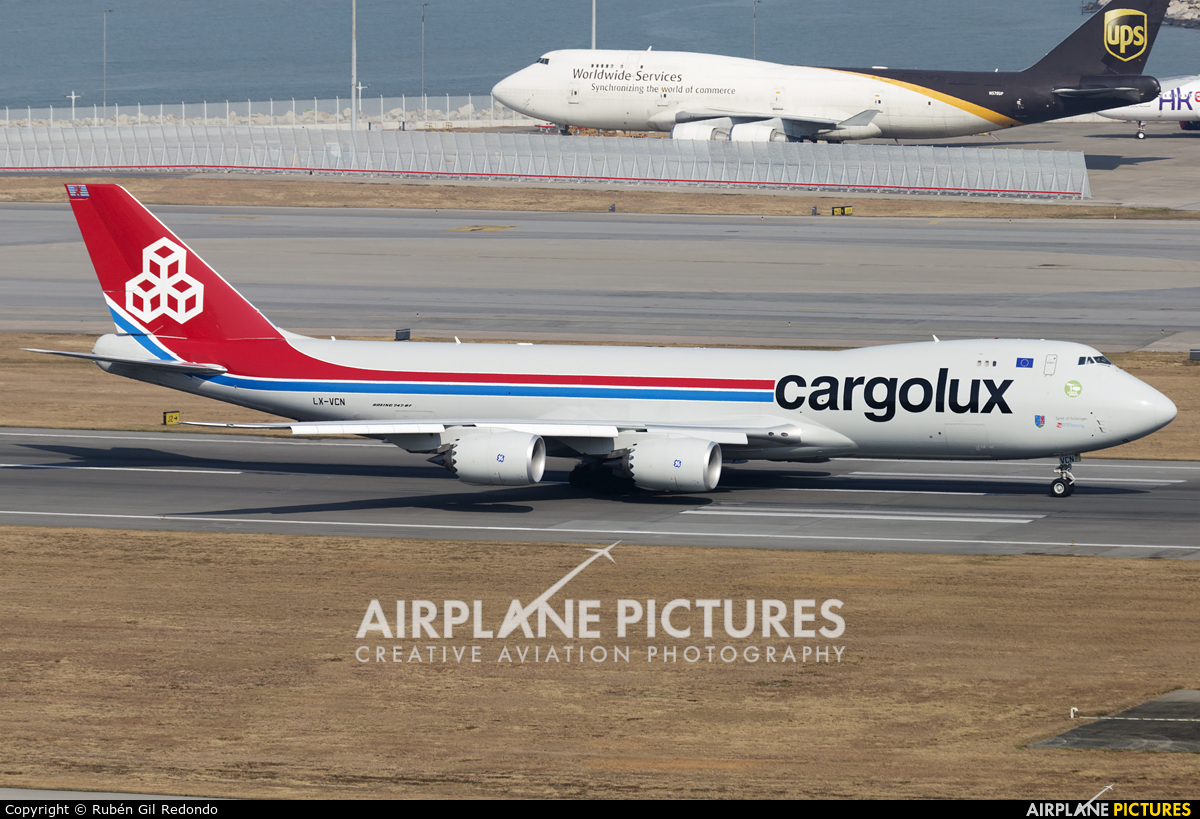 Cargolux LX-VCN aircraft at HKG - Chek Lap Kok Intl