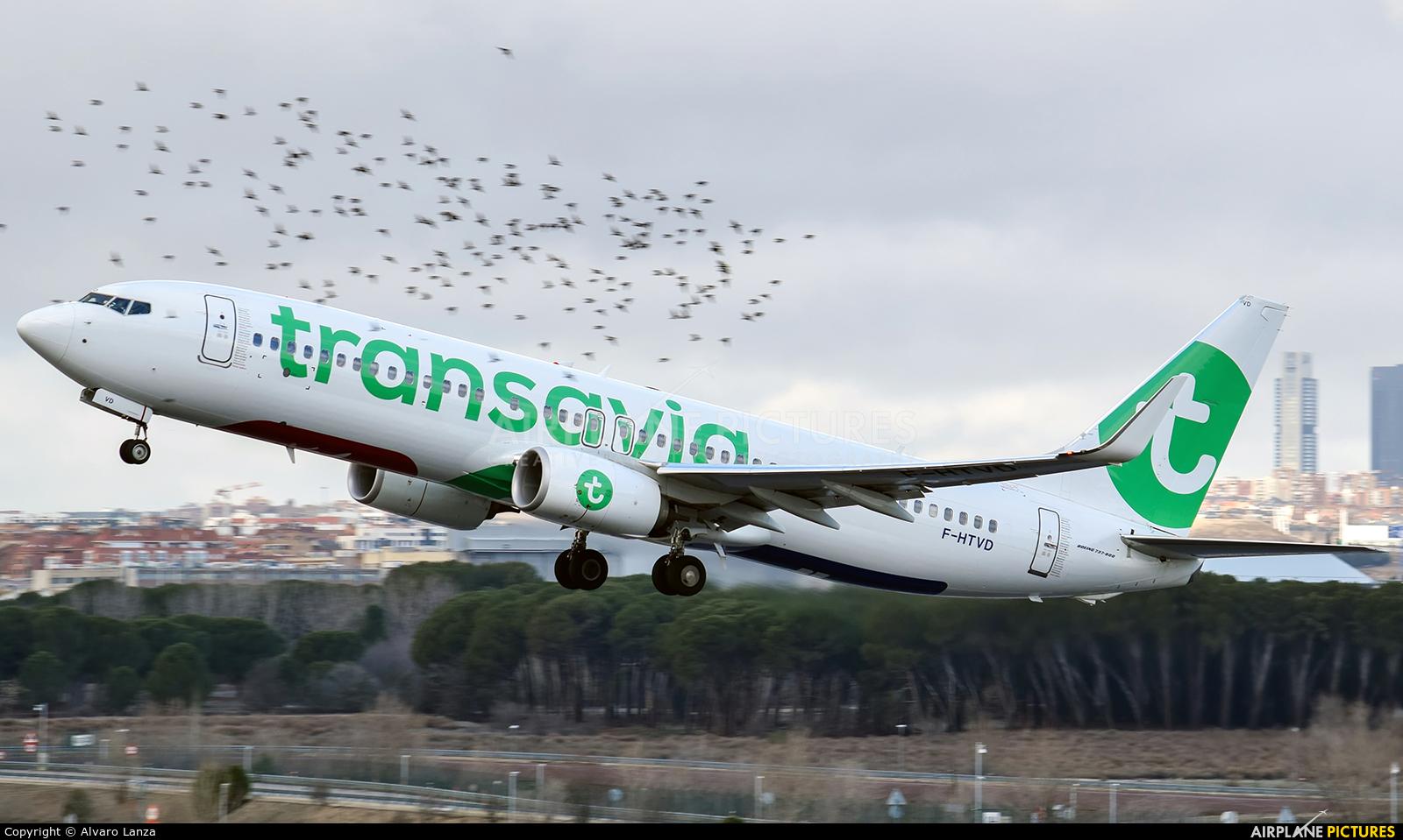 Transavia France F-HTVD aircraft at Madrid - Barajas