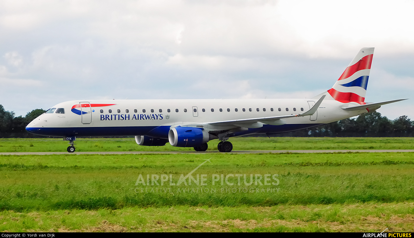 British Airways - City Flyer G-LCYK aircraft at Rotterdam