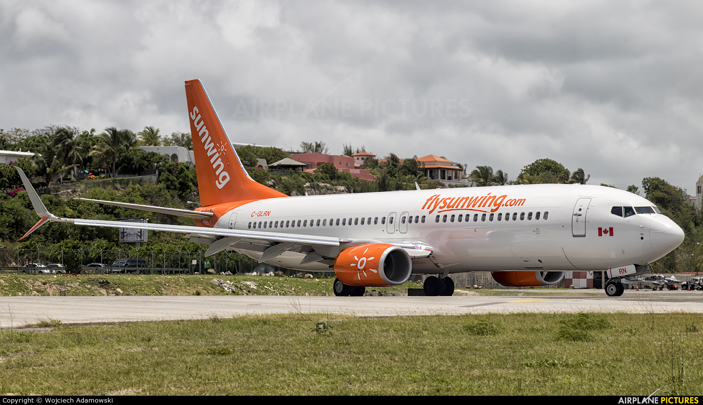 Sunwing Airlines C-GLRN aircraft at Sint Maarten - Princess Juliana Intl