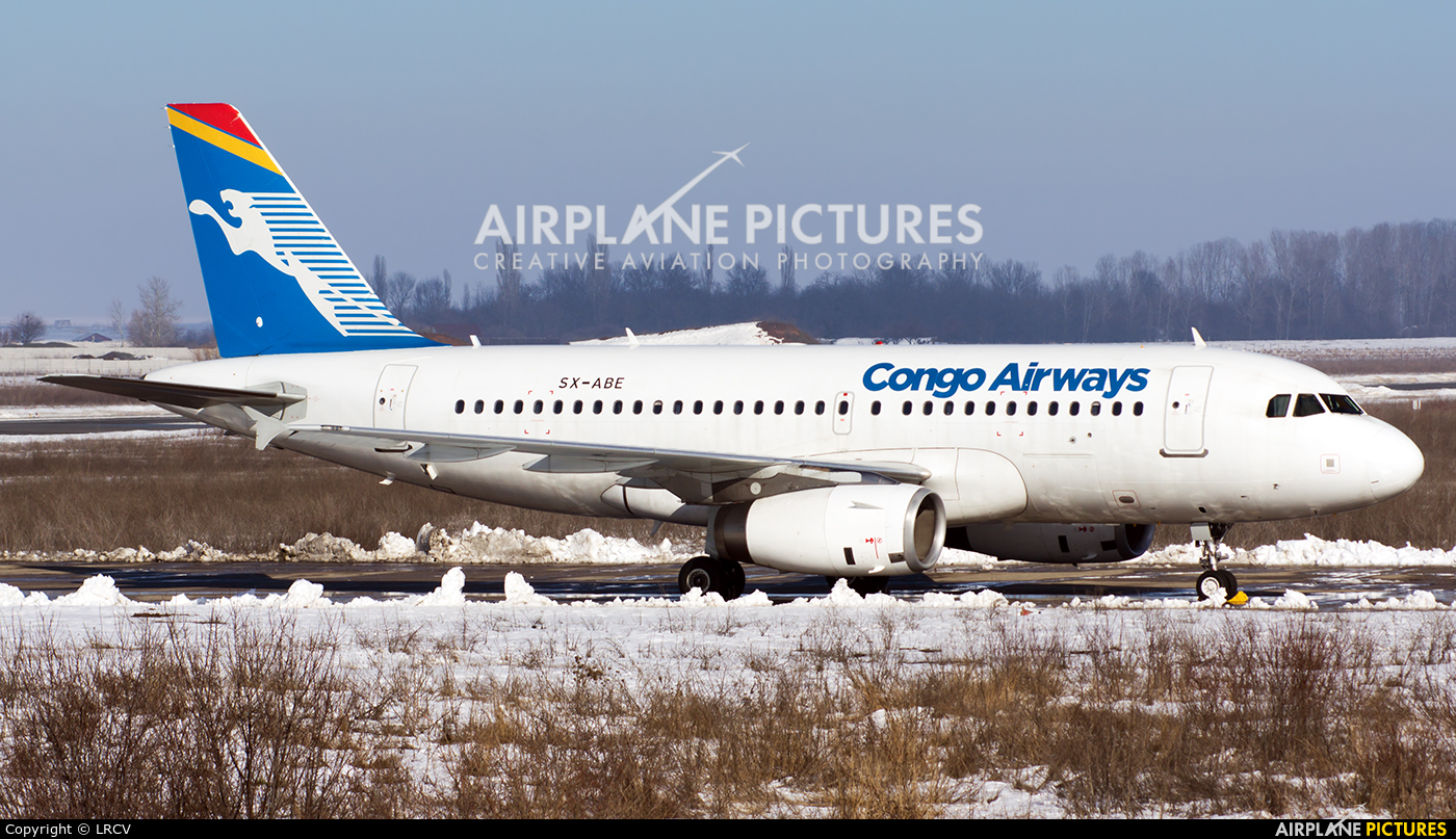 Congo Airways SX-ABE aircraft at Craiova