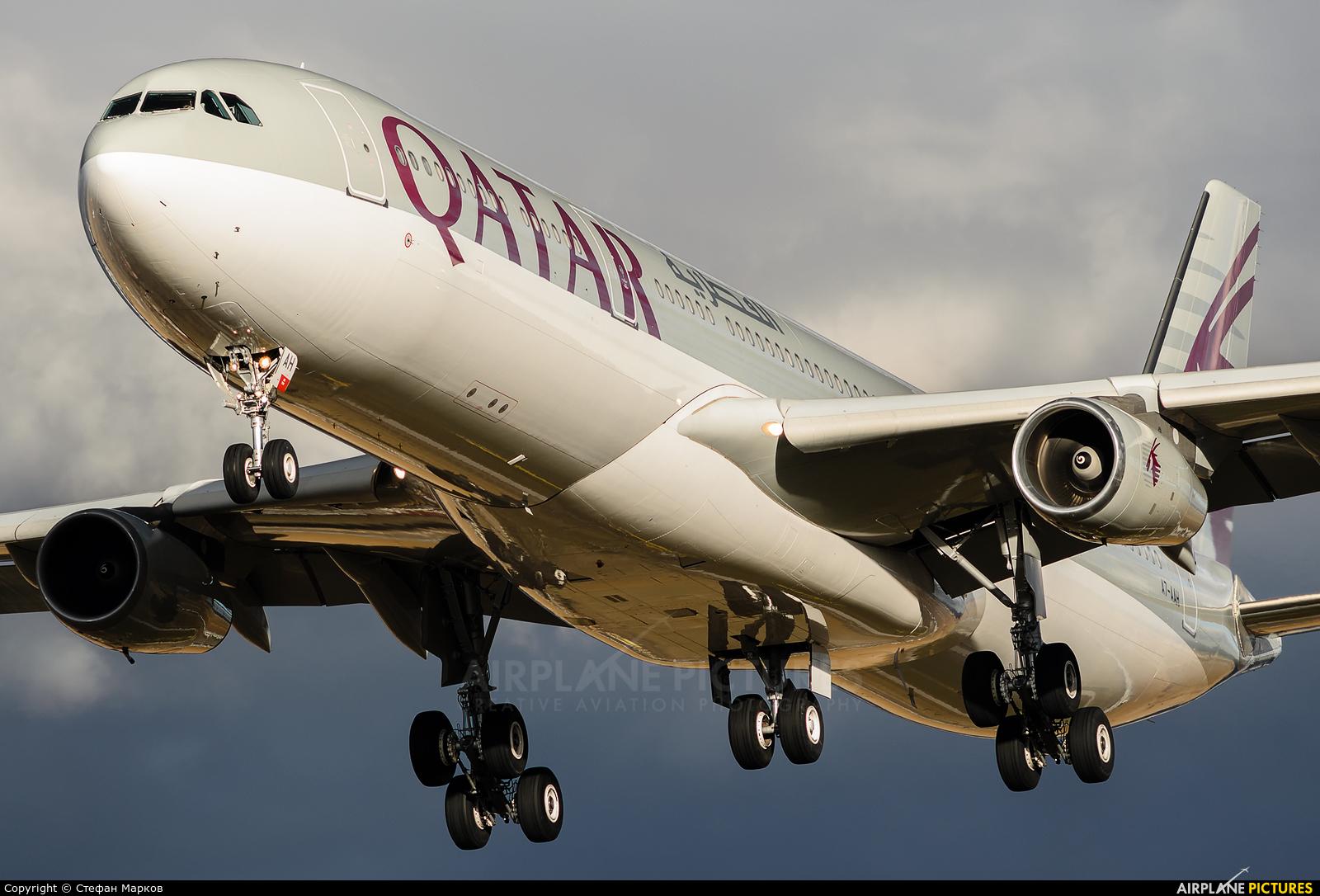 Qatar Amiri Flight A7-AAH aircraft at Sofia