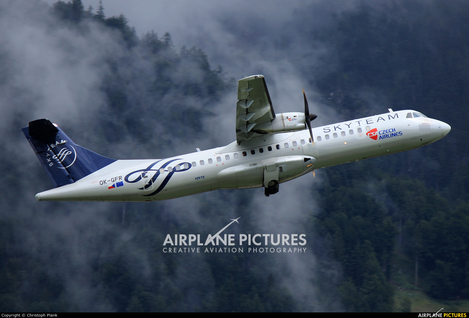 CSA - Czech Airlines OK-GFR aircraft at Innsbruck