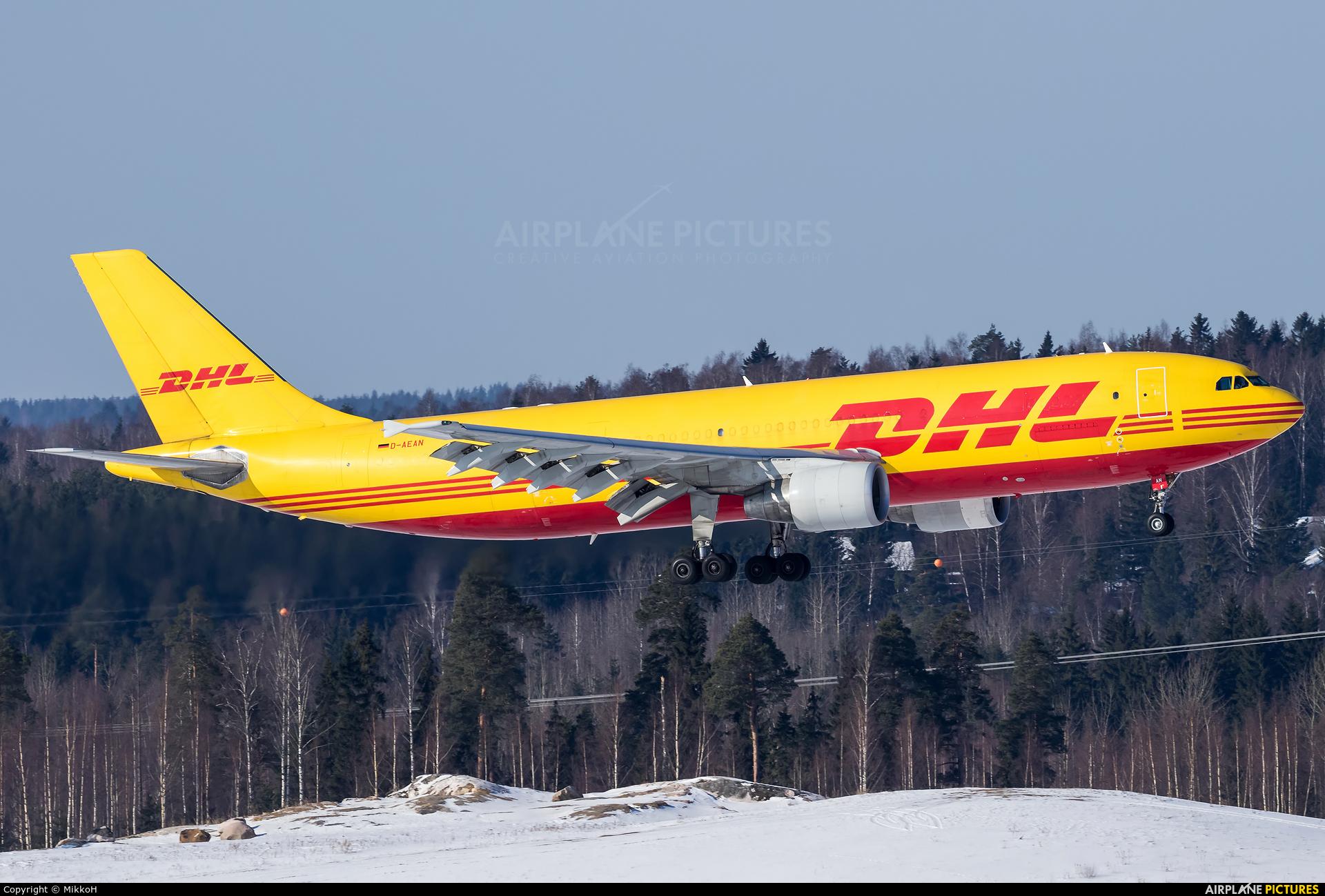 DHL Cargo D-AEAN aircraft at Helsinki - Vantaa
