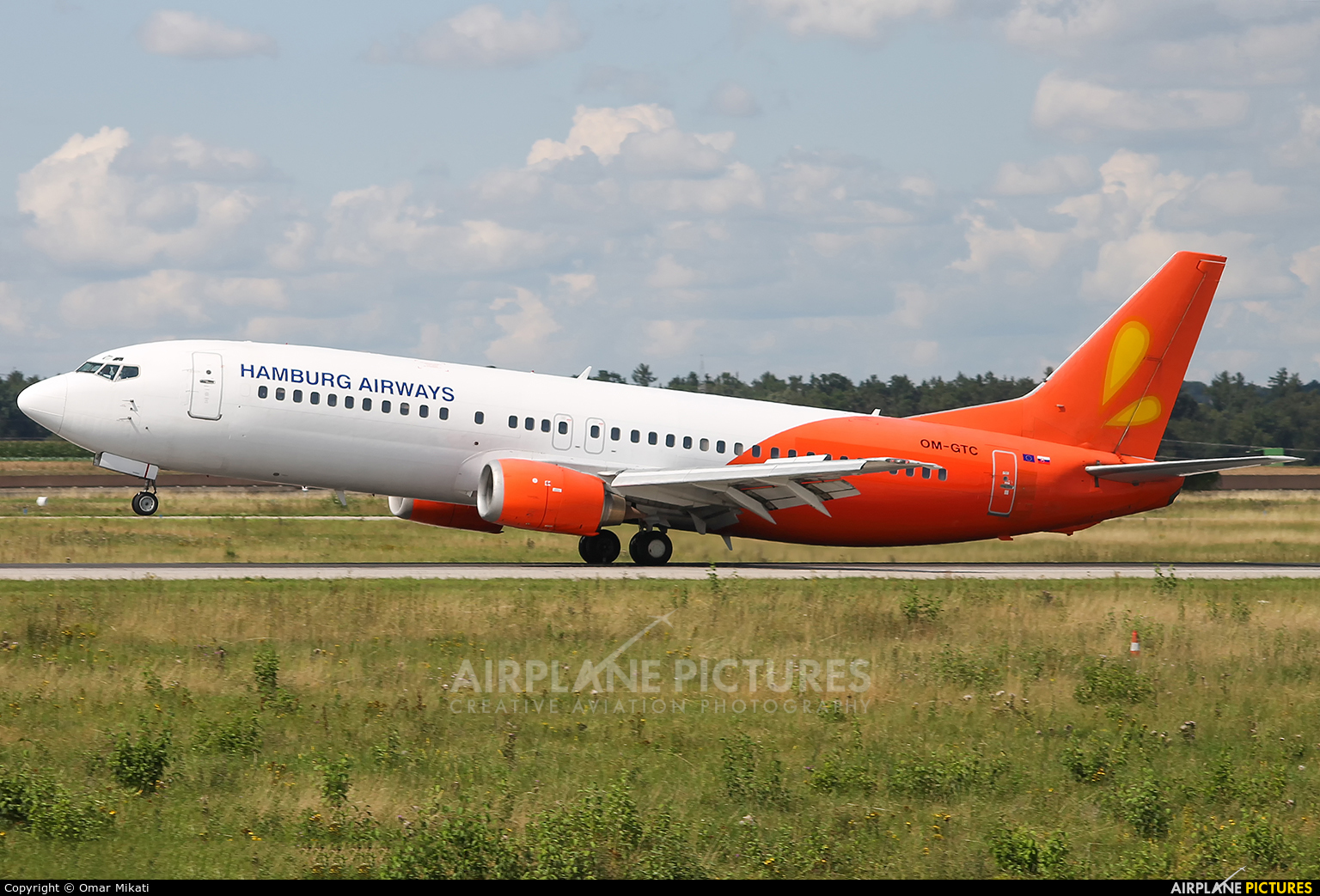 Hamburg Airways OM-GTC aircraft at Stuttgart