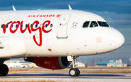 C-FYJG - Air Canada Rouge Airbus A319 aircraft