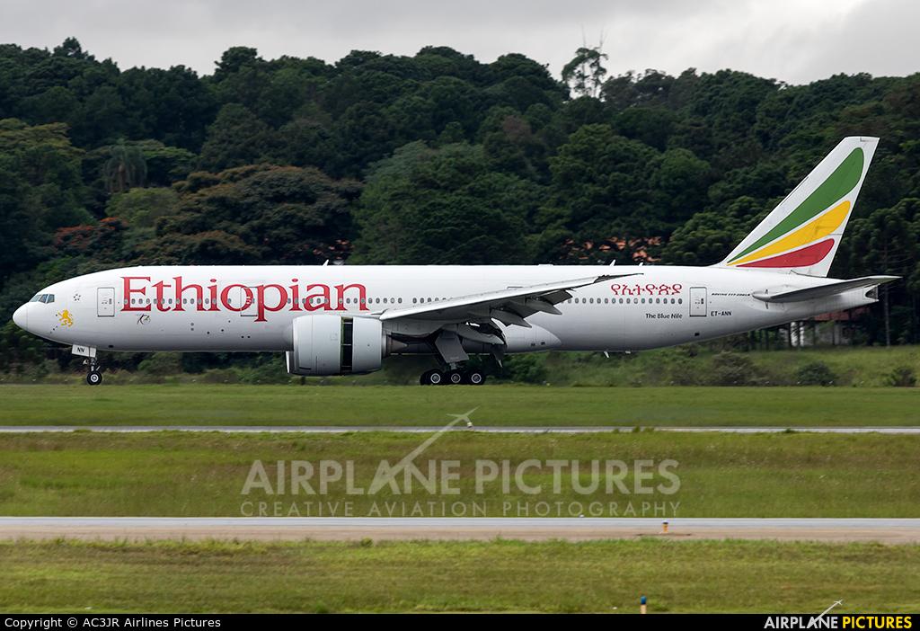 Ethiopian Airlines ET-ANN aircraft at São Paulo - Guarulhos