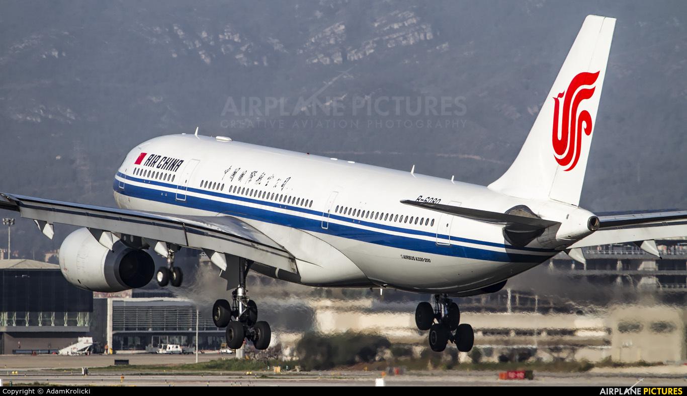 Air China B-6080 aircraft at Barcelona - El Prat
