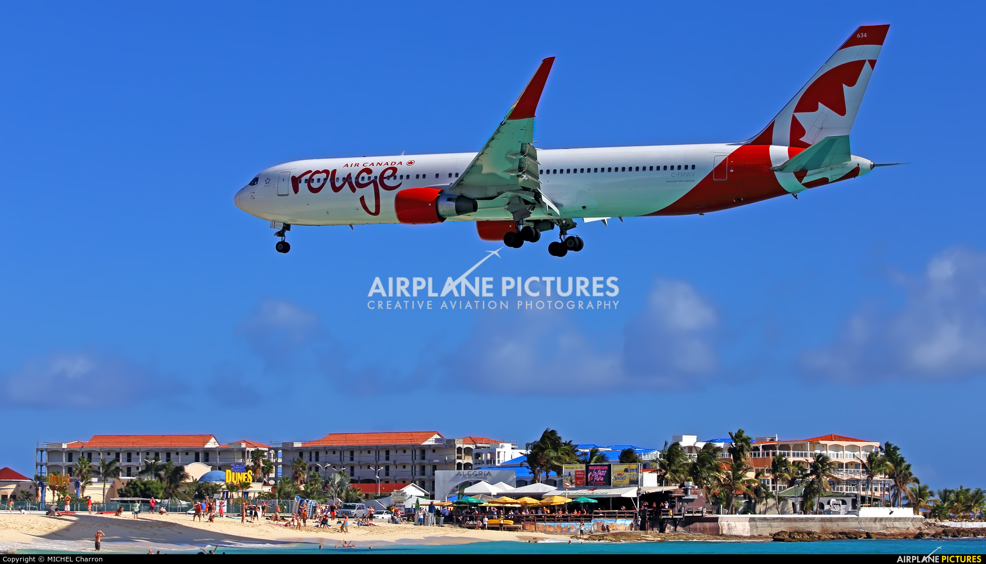 Air Canada Rouge C-FMWV aircraft at Sint Maarten - Princess Juliana Intl