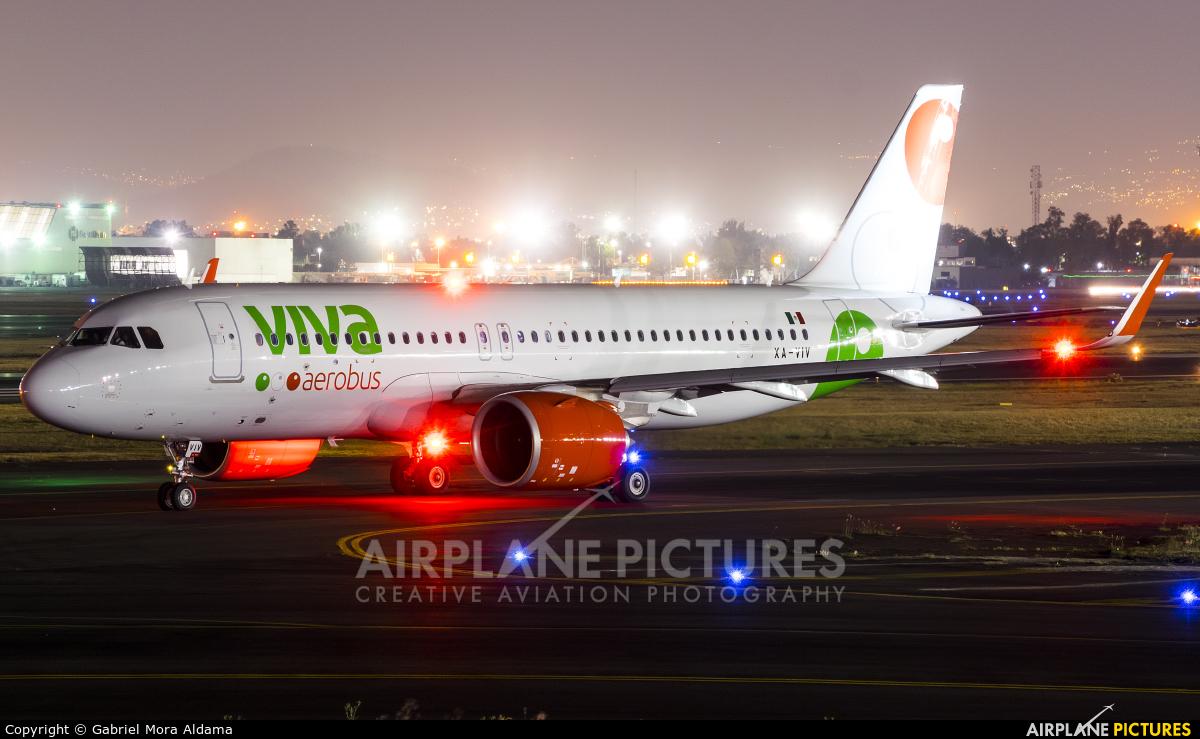 VivaAerobus XA-VIV aircraft at Mexico City - Licenciado Benito Juarez Intl