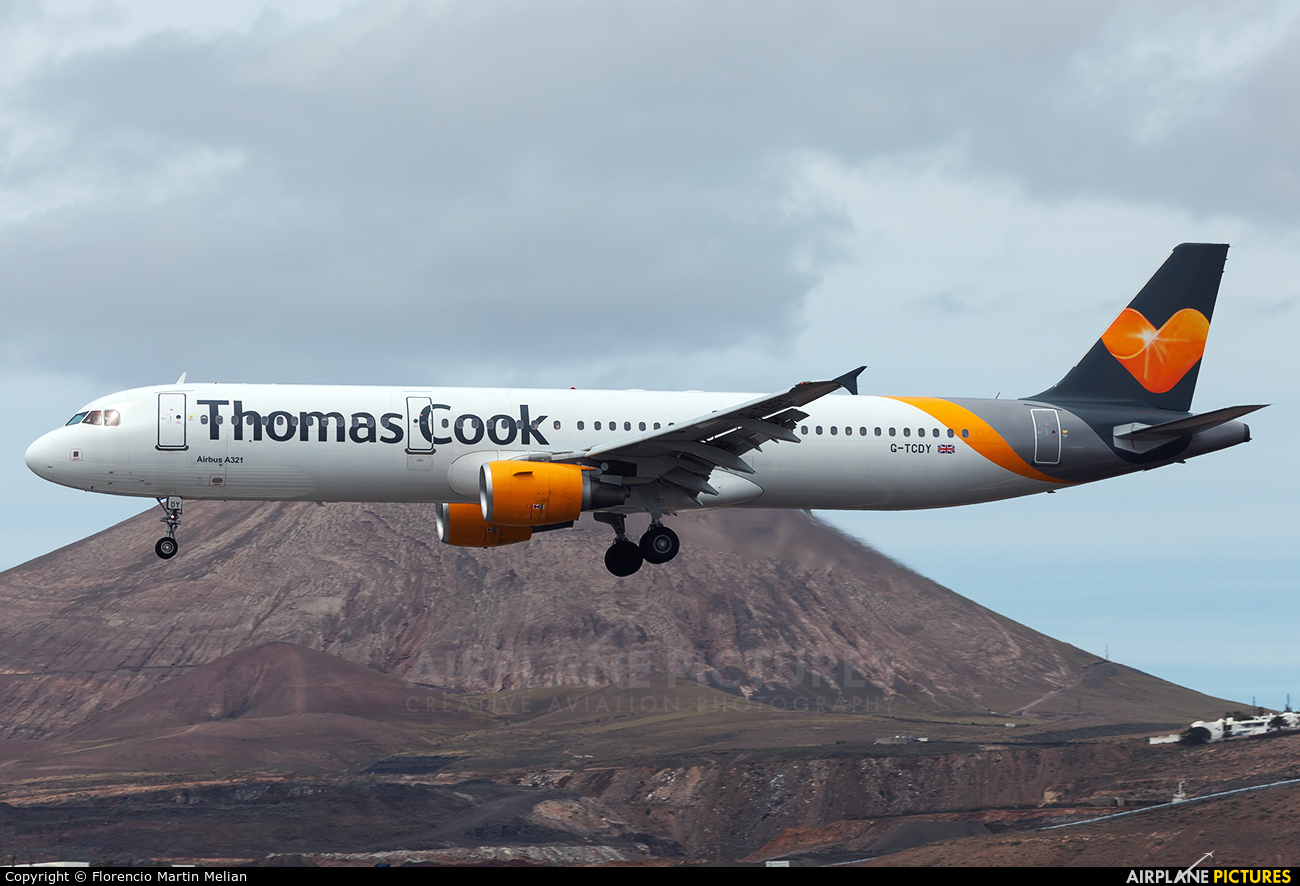 Thomas Cook G-TCDY aircraft at Lanzarote - Arrecife