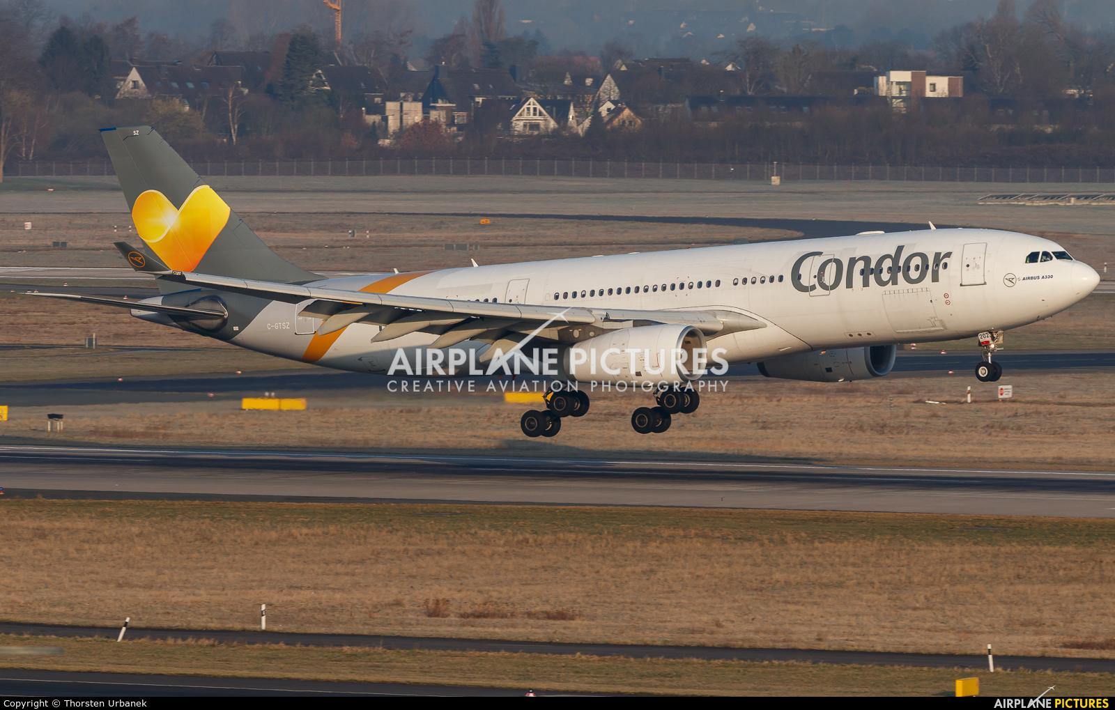 Condor C-GTSZ aircraft at Düsseldorf