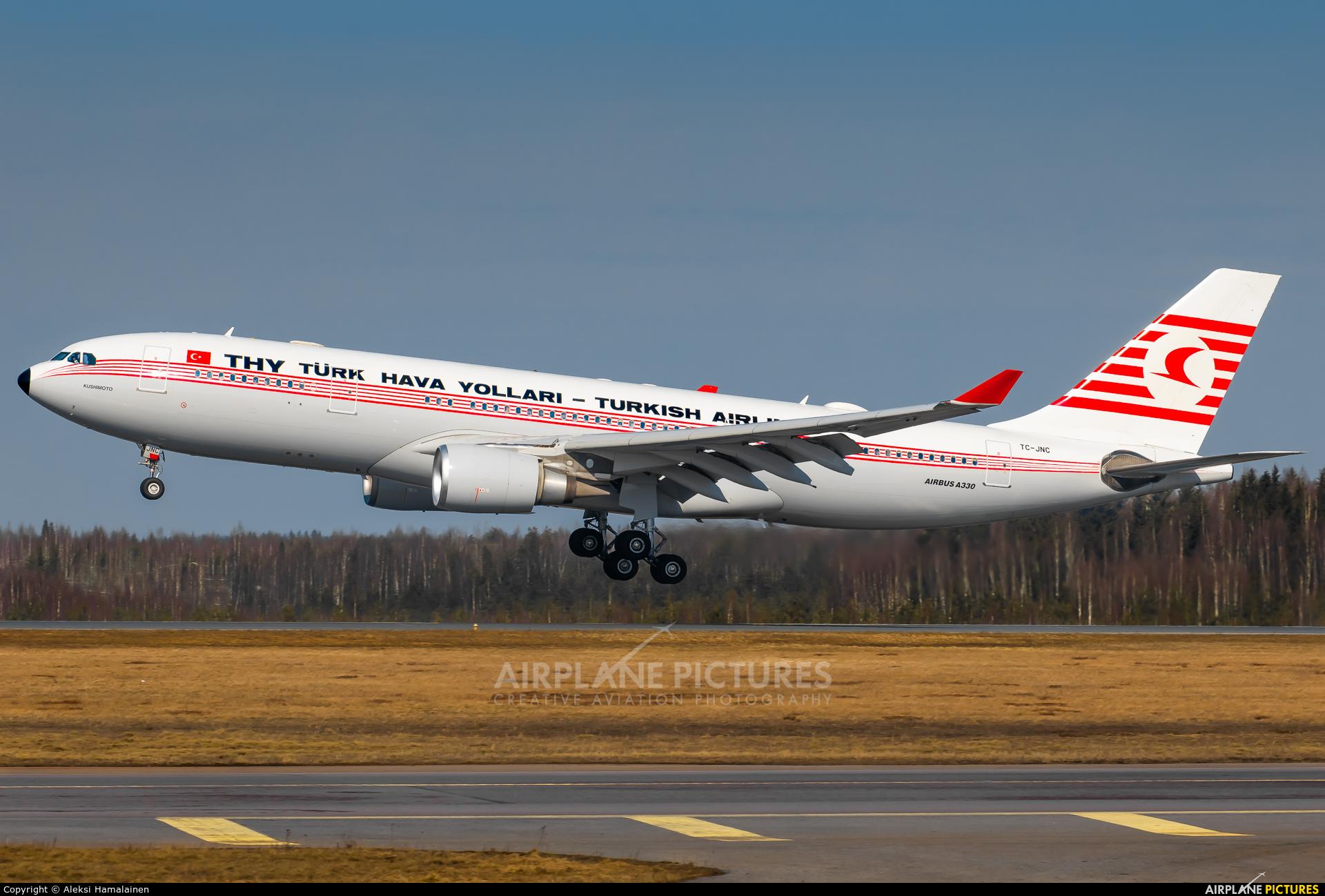 Turkish Airlines TC-JNC aircraft at Helsinki - Vantaa