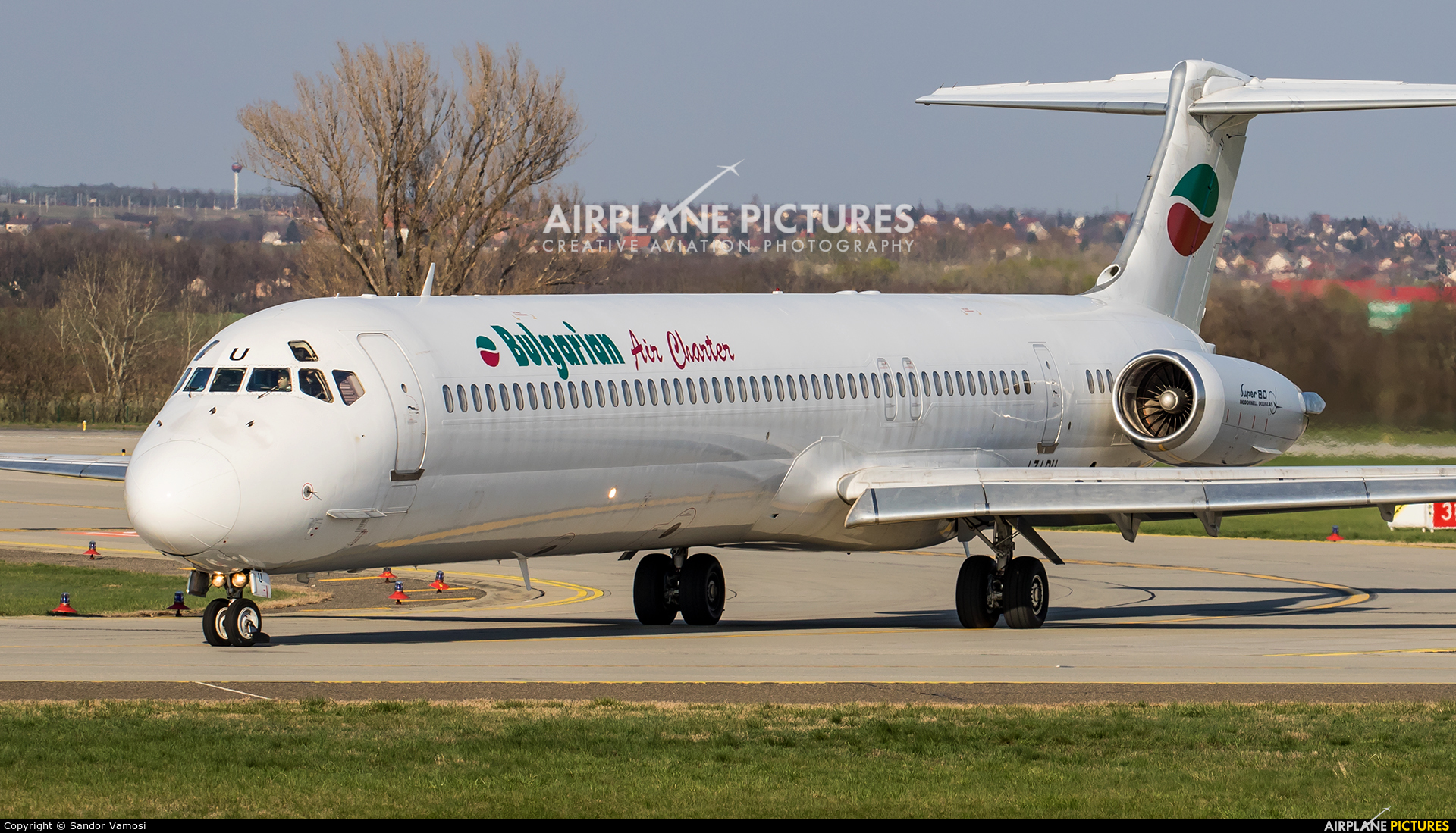 Bulgarian Air Charter LZ-LDU aircraft at Budapest Ferenc Liszt International Airport