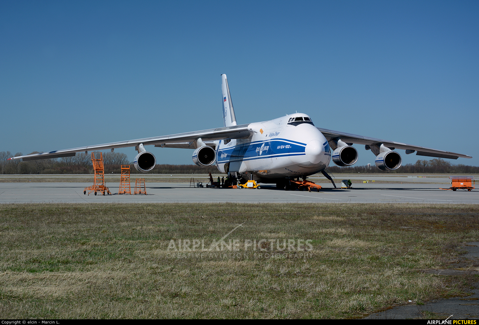 Volga Dnepr Airlines RA-82044 aircraft at Leipzig - Halle