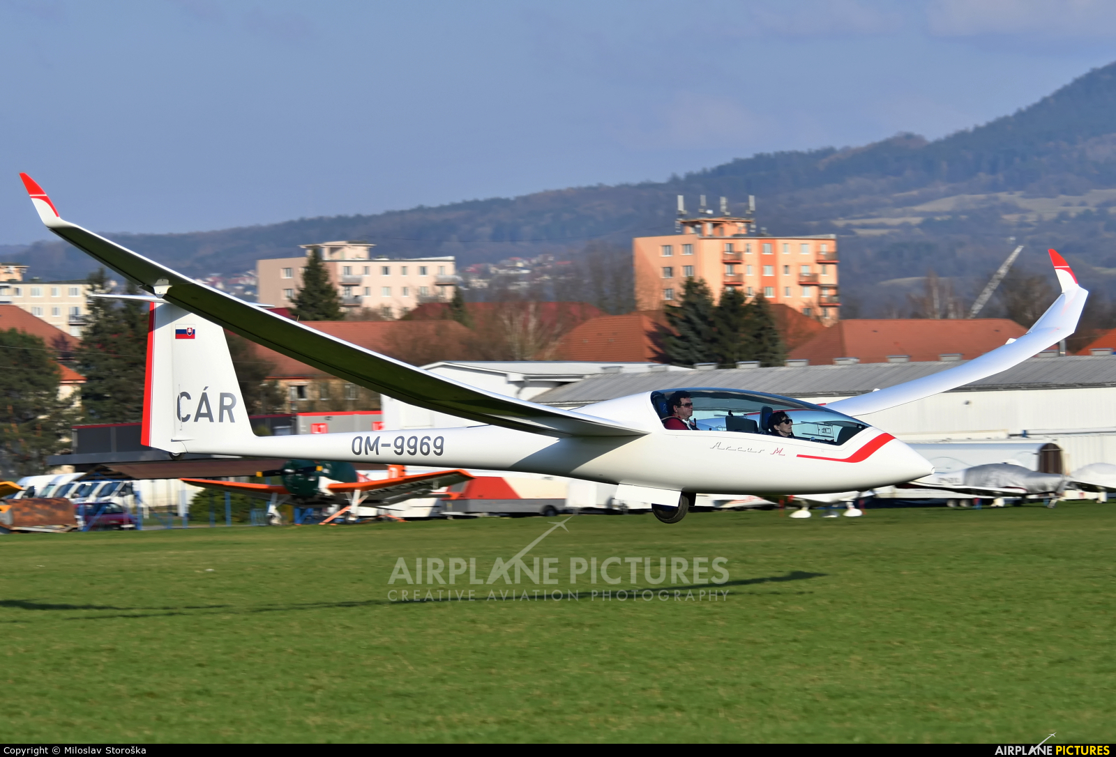 Private OM-9969 aircraft at Prievidza