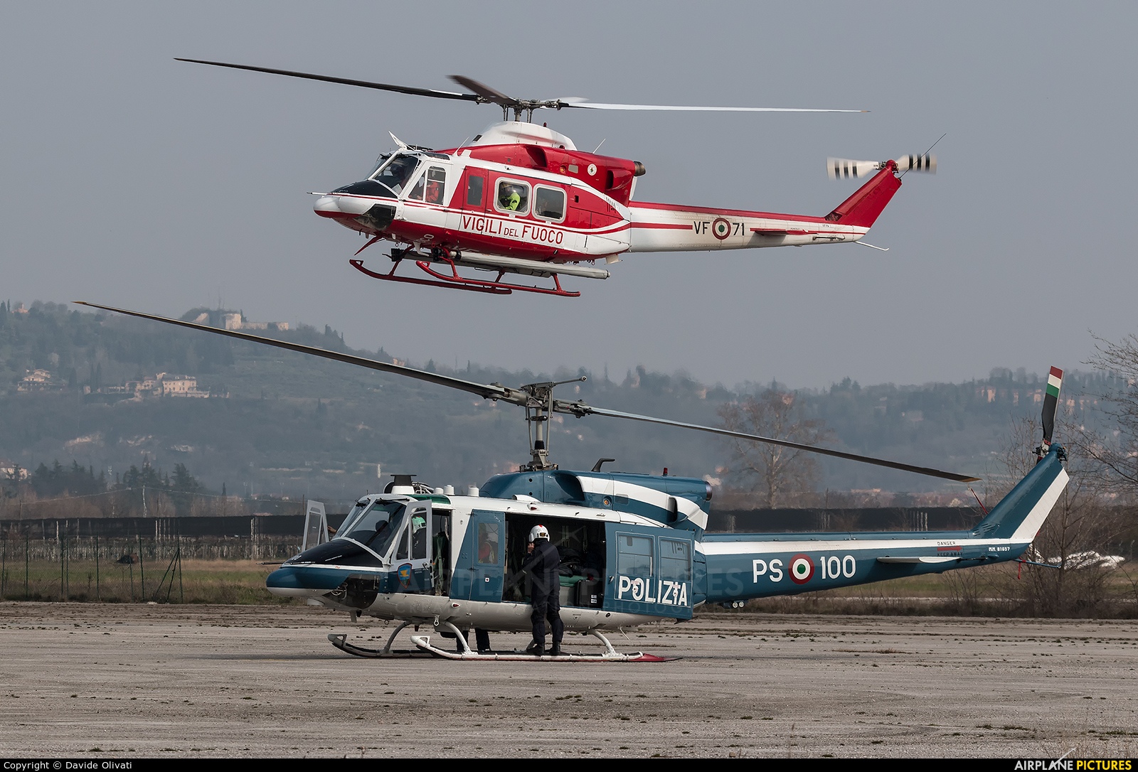 Italy - Police MM81657 aircraft at Verona - Boscomantico
