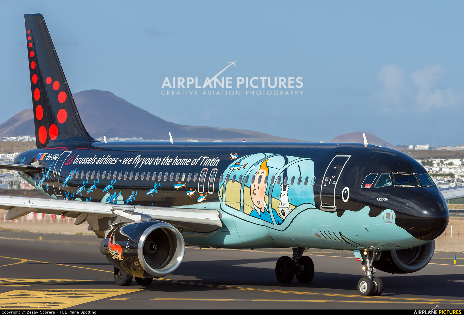 Brussels Airlines OO-SNB aircraft at Lanzarote - Arrecife