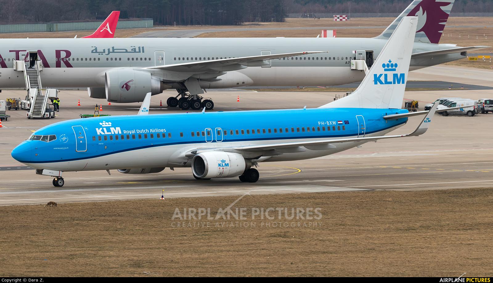 KLM PH-BXW aircraft at Berlin - Tegel