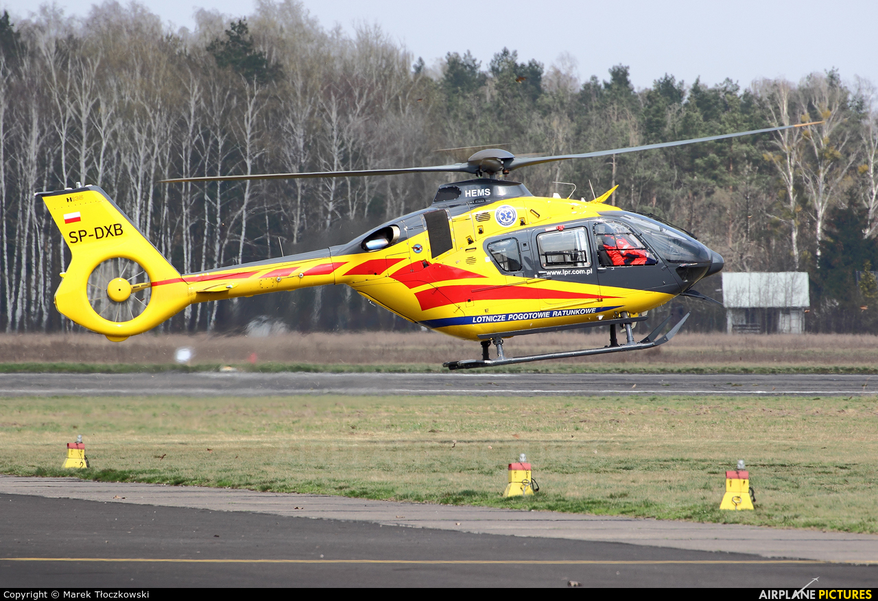 Polish Medical Air Rescue - Lotnicze Pogotowie Ratunkowe SP-DXB aircraft at Warsaw - Babice