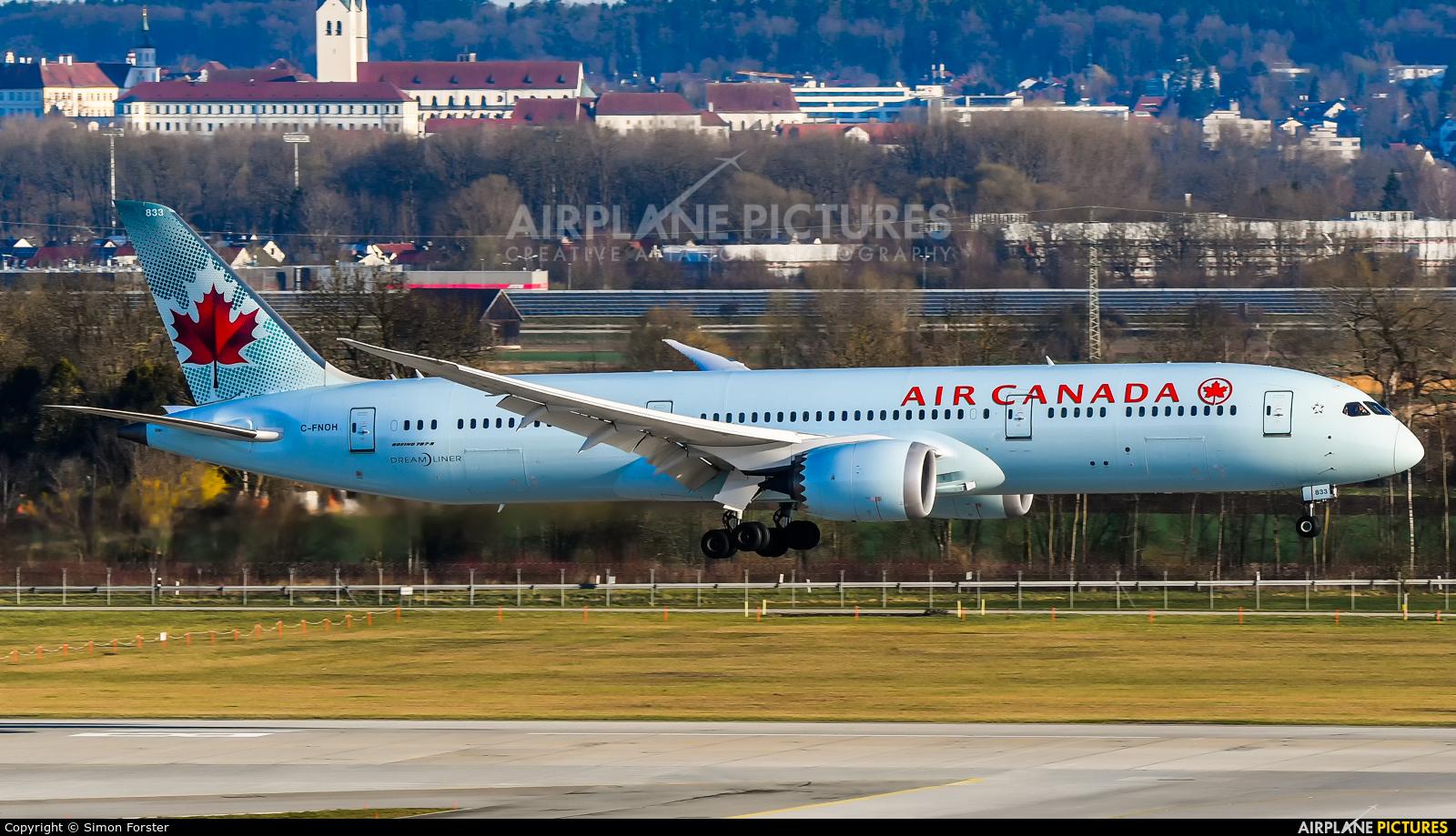 Air Canada C-FNOH aircraft at Munich