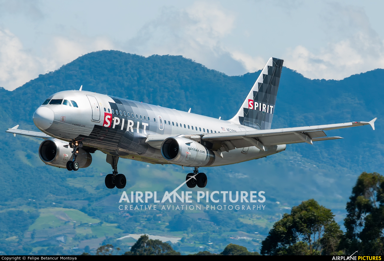 Spirit Airlines N528NK aircraft at Medellin - Jose Maria Cordova Intl